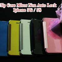 Flip Case Miror S View Non Auto Lock Iphone 5g/5s