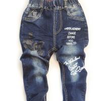 Blue Jeans Pants Sablon (Jeans Anak Laki-laki)