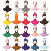 Yika Islamic Muslim Full Cover Inner Hijab Caps Split LongUndersc