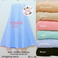 pastel skirt waffel emboss