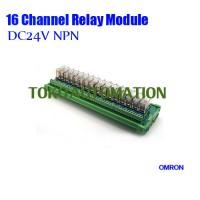 16 channel Omron PLC control panel relay module G2R-1-E 16A 24V DC NPN