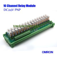 16 channel Omron PLC control panel relay module G2R-1-E 16A 24V DC PNP