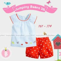 Baju Setelan Anak Perempuan Jumping Beans Polkadot