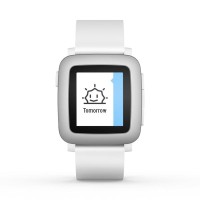 Pebble Smartwatch Time Watch White| Smart Watch Putih Limited
