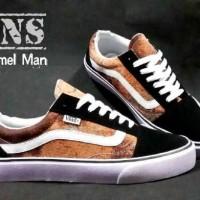 sepatu vans oldskool caramel and galaxy casual sneakers pria