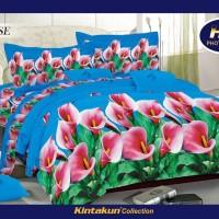 Sprei Kintakun Luxury ukuran 180 x 200 motif Alanise