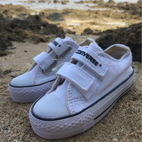harga Sepatu Converse Strap anak 21-25 Putih Tokopedia.com