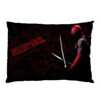 Sarung Bantal Custom Deadpool 45x65 cm gambar 2 sisi #1508