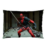Sarung Bantal Custom Deadpool 45x65 cm gambar 2 sisi #1505