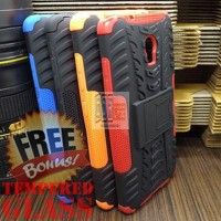 Softcase Rugged Dual Armor Soft Back Case Lenovo Vibe P1 Turbo