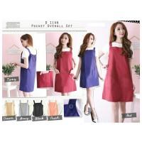 harga D1146 POCKET OVERALL SET (Baju Kodok Katak Fashion Wanita Promo Murah) Tokopedia.com