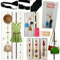 UP DN HOOK Hanger Gantungan Tas,Topi,baju Bag Hooks di pintu