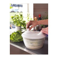 IKEA Tokig, Pencampur salad/Pengering sayur,warna putih, BPA Free