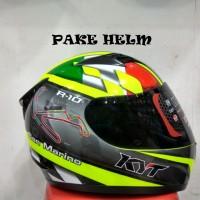 Jual HELM KYT R10 MOTIF SAN MARINO GP RACE CIRCUIT YELLOW FLUO Murah