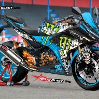 Decal stiker New CBR150R Black Drift monster Blue