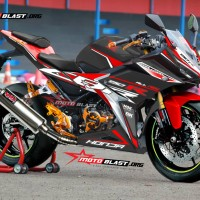 Decal stiker New CBR150R Black Red Sporty