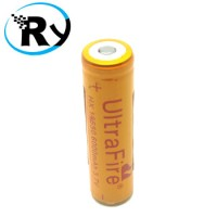 UltraFire Battery 3.7V 6000mAh with Button Top - BRC 18650 - Golden