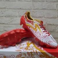 Sepatu Bola Specs Accelerator Garuda Red White 100696 Original