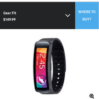 Samsung Gear Fit Smartband  Smartwatch