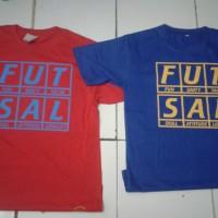 t-shirt kata2 futsal m l xl (bahan combed)