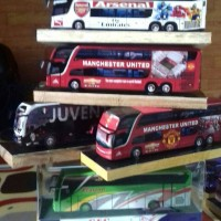 harga miniatur bus ARSENAL..MANCHESTER United..JUVENTUS Tokopedia.com