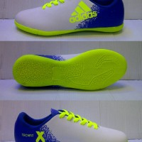 Sepatu Futsal Adidas X.16 Kids / Anak-anak Putih-Biru Grade Ori