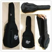 Tas Gitar Akustik / Softcase Gitar Akustik Gibson Jumbo warna hitam