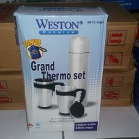 Termos stainless stail 1000ml/grand thermo set 2pcs/bottle WESTON