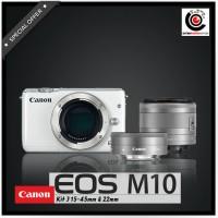 harga CANON EOS M10 KIT 15-45 + 22MM Tokopedia.com
