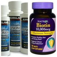 Paket Obat Penumbuh Brewok, Kumis, Rambut, Bulu-3 Minoxidil dan Biotin