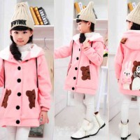 [Kid Funny Pink LO] Kid Anak Perempuan Babyterry Pink