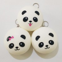 Squishy Panda Bun Jumbo Gantungan Kunci Bakpao Besar