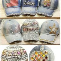 Shiny hats~topi jeans~topi modern wanita~topi import online~CR