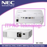 NEC VE303G Projector - DLP, 3000Ansi, SVGA, HDMI, 6000 Jam, 2.6Kg