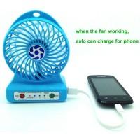 3 in 1 Mini Fan Multifungsi(Battery Charger 18650 + PowerBank 6000mAh)