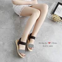 Sepatu Wanita | SANDAL SALUR MR27 HITAM | Murah
