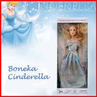 Toko Supplier Boneka Cinderella Barbie BLUE Dress ( BOX BESAR )