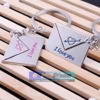 Gantungan Kunci Sepasang Surat Cinta Couple Keychain Key Chain