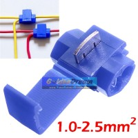 Blue Scotch Lock Quick Splice Wire Connector Jumper Kabel Kupas Lipat