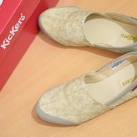harga Sepatu Wanita Kickers Slip On / Full Cream / flat shoes santai cewek Tokopedia.com