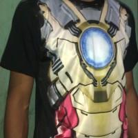 Kaos fullprint 3d Iron Man Suits Seri 001 ( 49 x 71 )