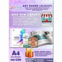 Kertas Art Paper 150gram A4