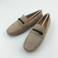 JUAL SEPATU TODS LOAFERS BEIGE CREAM SUEDE MIRROR QUALITY
