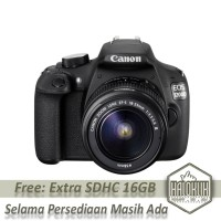 Kamera DSLR Canon EOS 1200D Kit 18-55 IS II 18 MP (GARANSI RESMI)