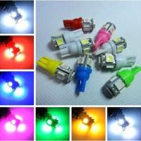 Lampu LED T10 5 SMD 5050 Senja Sein Plat Bohlam Rem Jagung Mobil Motor