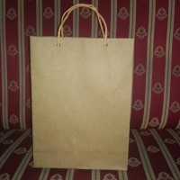 Paper Bag Kertas Kraft Uk 23cm x 5.5cm x 18cm. 125gr