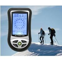 alat ukur ketinggian digital altimeter 8in1/kompas digital/hiking tool