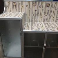 Jual Rak Piring Kompor Undak 3 Pintu Keramik - Lemari Dapur Muat 2 Tungku Murah