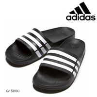 sendal adidas duramo slide sandal black white original 100% new model