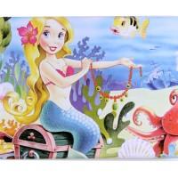 Jual Puzzle Jigsaw Kayu 6x10 (60 Potong) Kotak Kaleng Mermaid Duyung PL-045 Murah